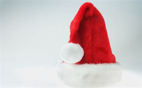 christmas cap santa claus wallpaper hd wallpapers