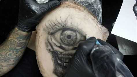 fake skin for tattooing how to skull eye on