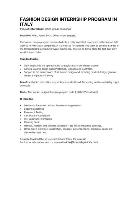 fashion design intern fashion design internship program in italy