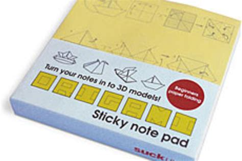Sticky Note Origami - doane utility notebook uncrate