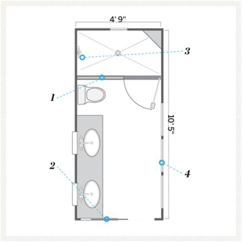 narrow bathroom floor plans floor plan after a bath that s still narrow but