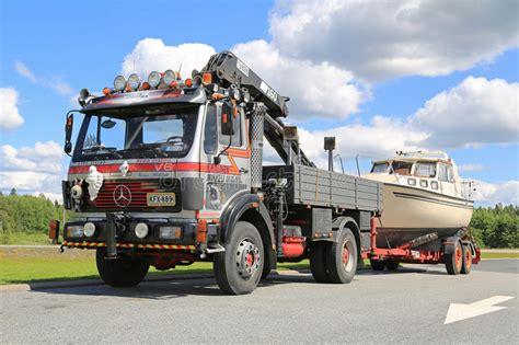 boat transport truck mercedes benz 1622 truck for boat transport editorial