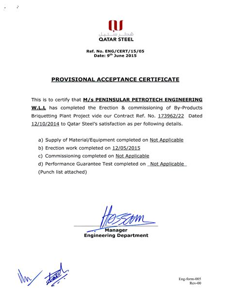Offer Letter Qatar certificates peninsular petrotech engineering w l l