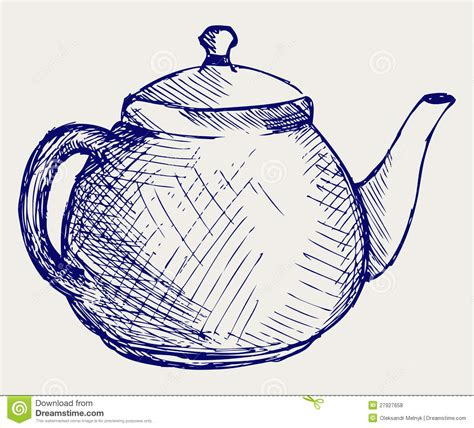 teapot doodle style stock vector image of caricature