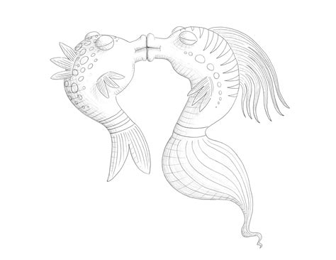free coloring pages of pout pout fish