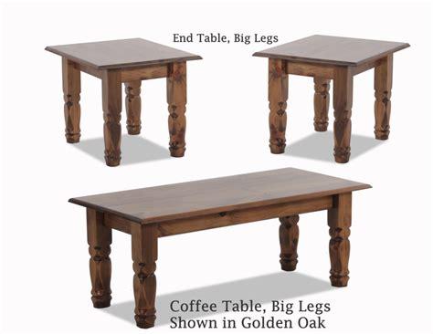 coffee  tables big legs golden oak ah woodworking llc