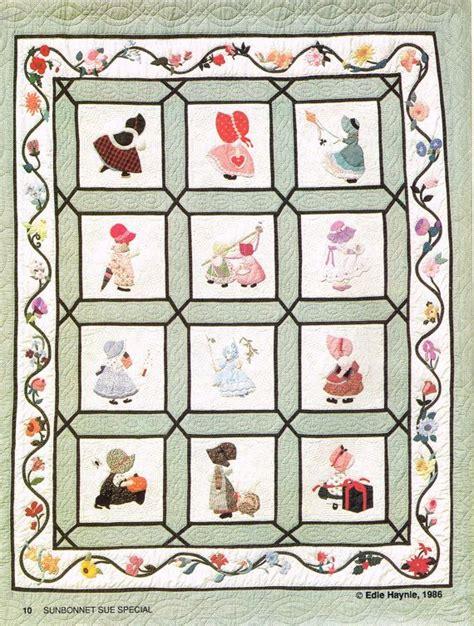 sunbonnet sue quilt special applique pattern book