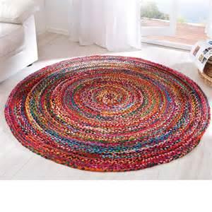 teppich bunt rund living teppich quot harlekin quot bunt 150 cm 75 baumwolle 25