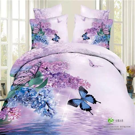 butterfly comforter sets queen size bule butterfly 3d bedding set queen size 4pcs purple