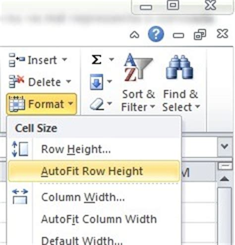 excel format row height automatically how can automatically match autofit column width width