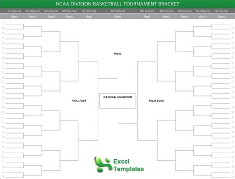 Bracket Template Printable Free Bracket Template Excel Bracket Template