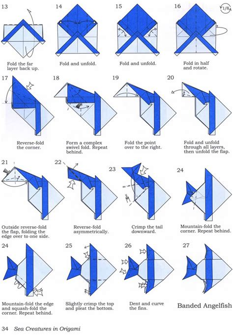 How To Do Origami Fish - banded fish pt 2 lessons