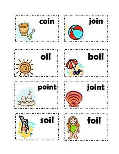 words with vowel diphthongs oi and oy game | words