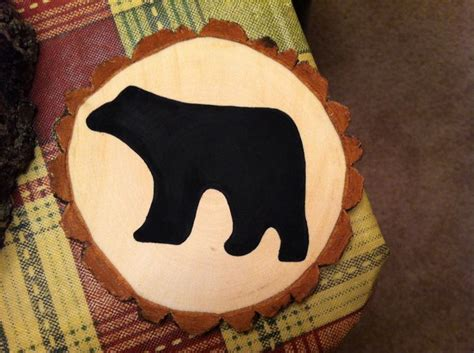 large rustic black bear on wood hand painted by black bear hand painted ornament jewell s rustic crafts
