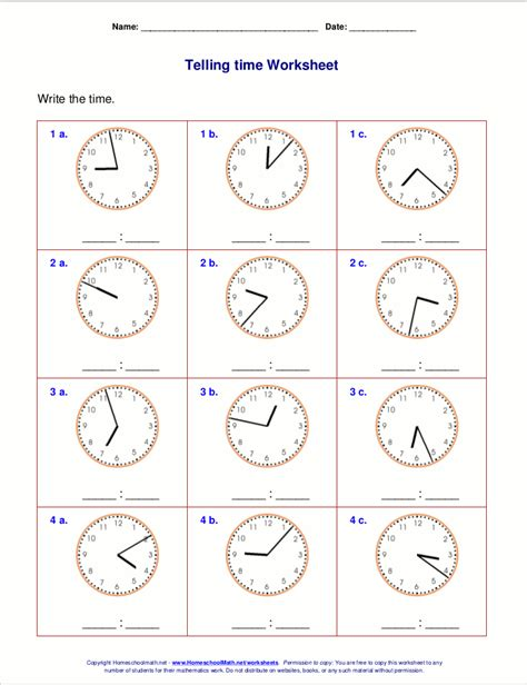 printable math time worksheets for 3rd grade telling time worksheets for 3rd grade