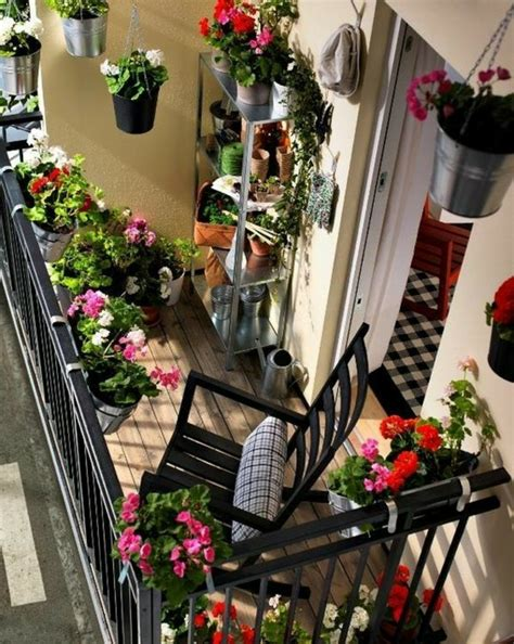 wunderschöner garten balkon dekor bepflanzen