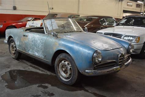 1960 alfa romeo giulietta spider veloce stock 19955 for