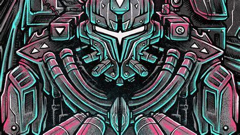 robot  drum  bass cover art wallpapers hd