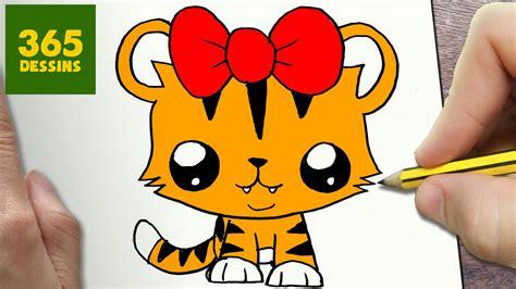 imagenes de tigres kawaii comment dessiner tigresse kawaii 201 tape par 201 tape dessins