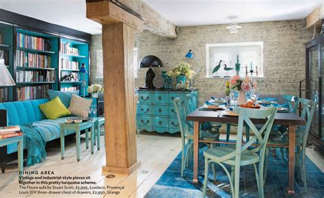 retro inspired coral and aqua living room color palette industrial and antique turquoise themed living interiors