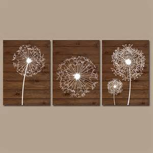Wall Decor Paintings by Dandelion Wall Wood Effect Bedroom Bathroom Artwork