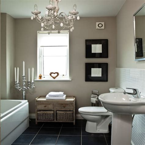 shabby chic small bathroom ideas chic white bathroom bathroom housetohome co uk