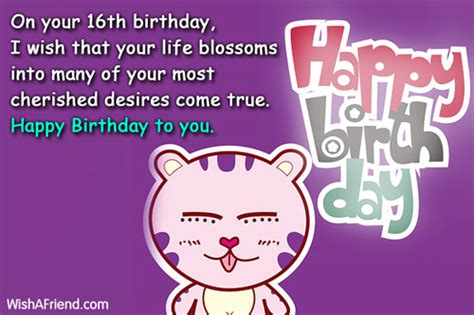 16th Birthday Quotes 16th Birthday Quotes For Birthday Quotesgram