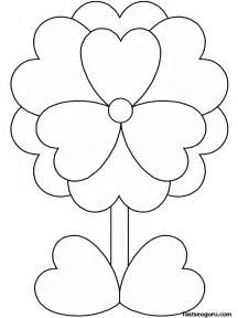 Day Flower Coloring Pages For Kids  Printable sketch template