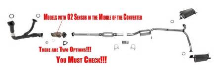 2002 Honda Accord Exhaust System Replacement Accord 3 0l V6 2 Doors 98 02 Catalytic Converter