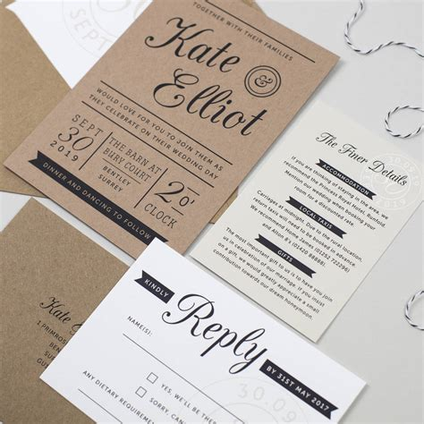 craft paper wedding invitations kraft st wedding invitation by pear paper co