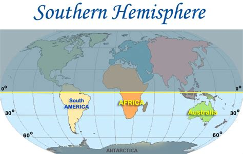 southern hemisphere map my