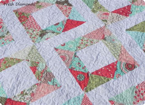 Easy Quilts To Make by Samelia S Fresh Diamonds Easy Quilt Tutorial