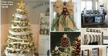 decorating for ideas 40 rustic christmas decor ideas you can build yourself