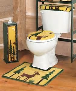 3 Pc Bathroom Rug Set Deer Cabin Lodge Bathroom 3 Pc Bath Rug Set Ebay