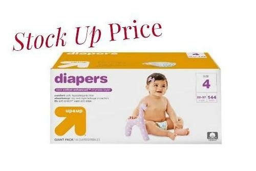 target coupon on diapers