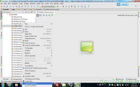 android studio jdbc tutorial android nine patch image exle