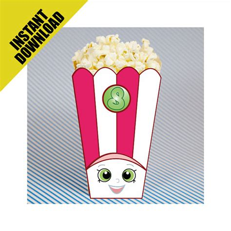 printable shopkins eyes shopkins party popcorn box instant download printable