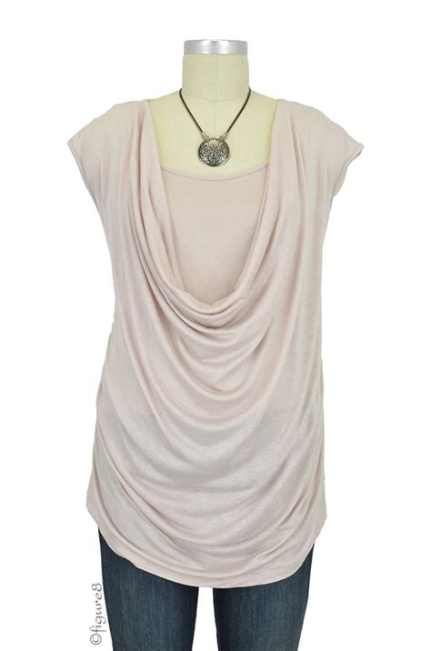 breastfeeding drape brianna soft drape nursing top in antique blush by mothers