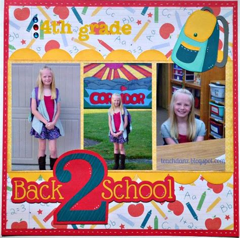 scrapbook layout for school picture 17 best images about scrapbook school layouts on