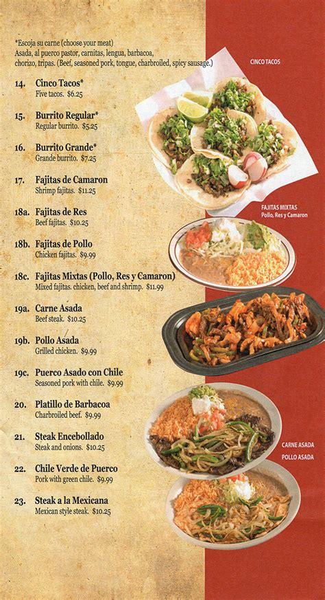 tacos lincoln ne el chaparro mexican restaurant menu with prices 900 s