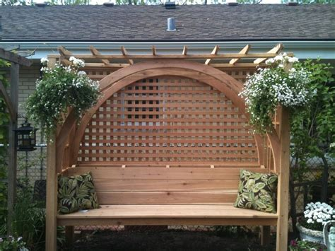 pergola bench beautiful bench with pergola top banci pinterest