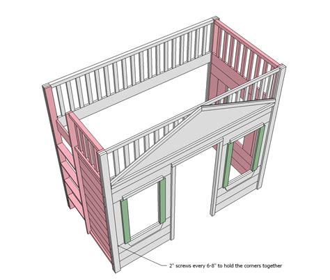 Cottage Loft Bed Plans by Woodwork Cottage Loft Bed Plans Pdf Plans