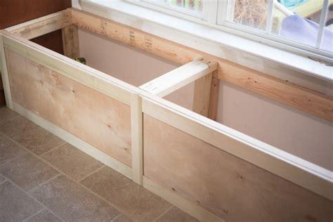 built in storage bench diy built in storage bench tutorial one room challenge