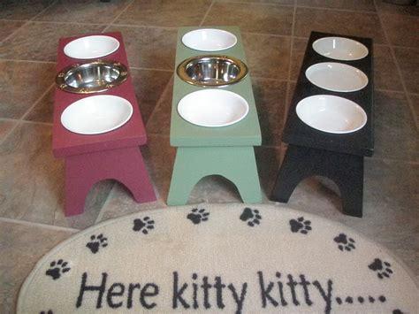 raised dishes raised elevated cat feeding station 3 bowl