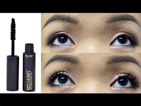 mascara try on & review: tarte lights, camera, lashes 4 in