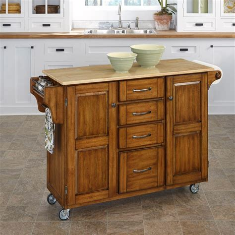 home styles create a cart natural kitchen cart with quartz home styles create a cart warm oak kitchen cart with