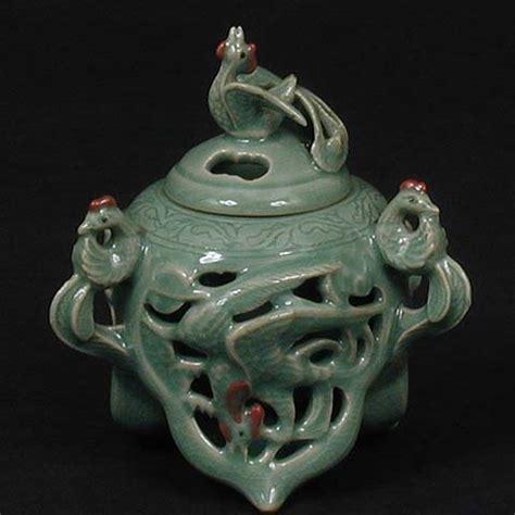Celadon Vases Korea Chinese Phoenix Incense Burner