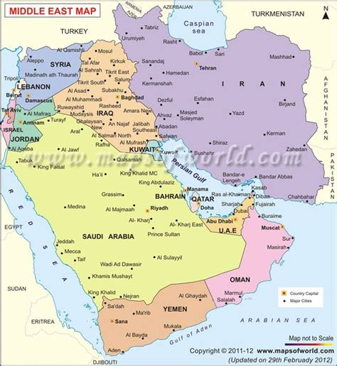 mideast map countries middle east map middle east countries capitals and