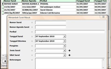 software aplikasi surat masuk keluar microsoft excel