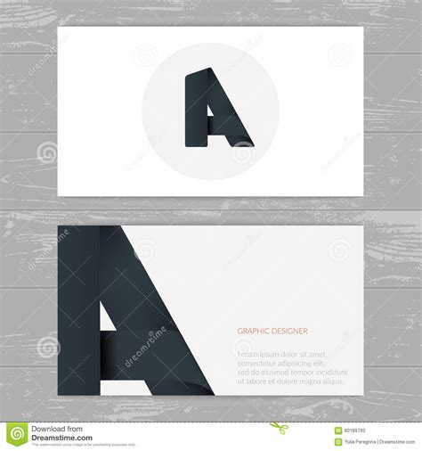 business card template with mascot alphabet letter font logo business icon vector